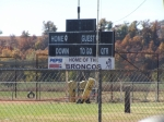Home of the Bronco's High School Football Field, Cedar Vale, Kansas