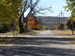 West St. Looking towards Lookout Mountain. Similar views of Lookout Mtn, can be seen throughout the town of Cedar Vale,