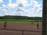 Cedar Vale - girls softball game